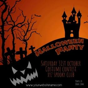 Halloweenparty instagram video post template