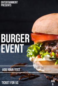 Hamburger event flyer template