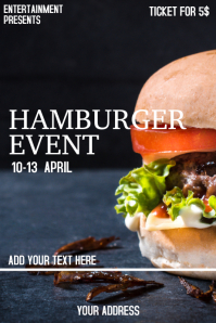 Hamburger flyer template