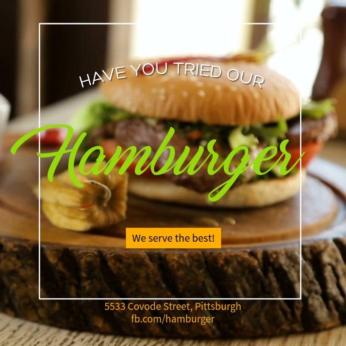 Hamburger Instagram Video Template
