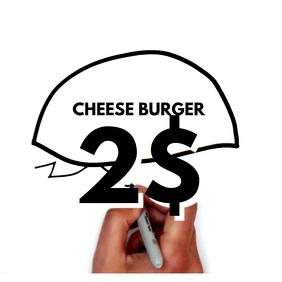 Hamburger Instagram Video Post template