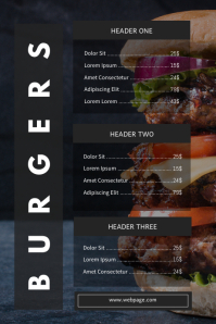 Hamburger menu template