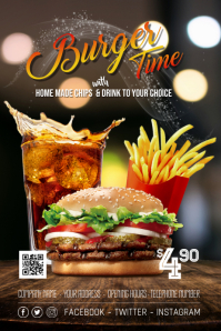 Hamburger Offer Special Poster Flyer template