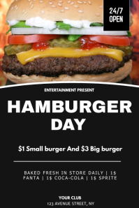 Hamburger sale flyer template