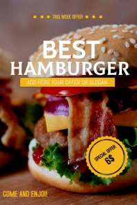 Hamburger sale flyer template