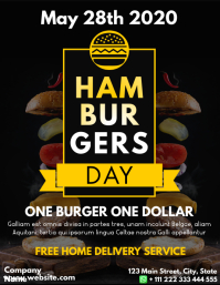 hamburgers national day flyer design template