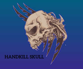 HAND KILL SKULL TATTOO TEMPLATE Средний прямоугольник