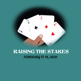 Hand Raising the Stakes 徽标 template