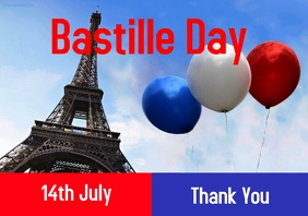 Bastille Day A2 template