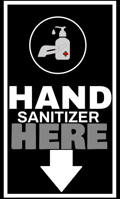 HAND SANITIZER BOARD SIGN TEMPLATE Legal AS