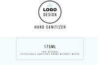 Hand sanitizer label flyer Rótulo template