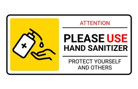 HAND SANITIZER SIGN แทบลอยด์ template