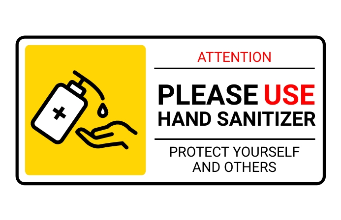 HAND SANITIZER SIGN Tabloid template