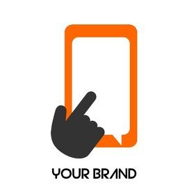 HAND TOUCH PHONE SCREEN LOGO 徽标 template