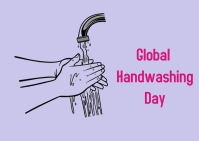 hand washing day Postcard template