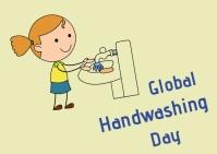 hand washing day Открытка template