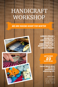 Handicraft Workshop Flyer design templaet Plakkaat template