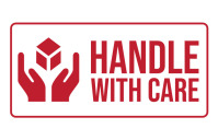 Handle with Care Stamp Sign Tabloid template