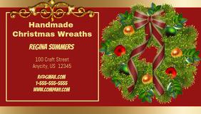 Handmade Christmas Wreath Business Card