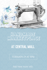 handmade craft marketplace flyer template