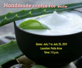 Handmade crafts for sale Large Rectangle template