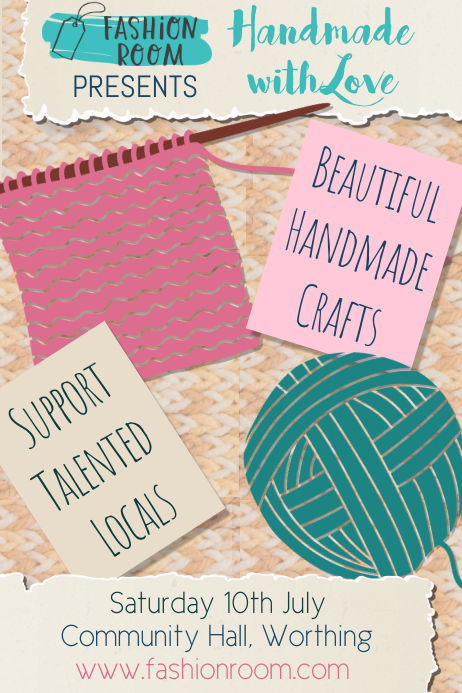 Handmade Crafts Poster Template