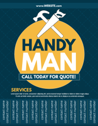Handy Man Flyer (US Letter) template
