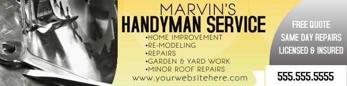 Handy Man Home Repair Service Banner Cartel de 2 × 8 pulg. template