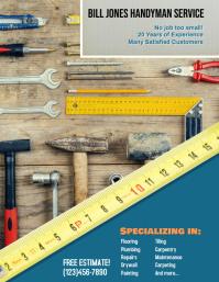 Handyman Construction Advertisement Flyer