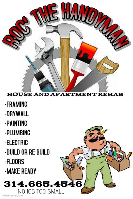 handyman flyer template postermywall