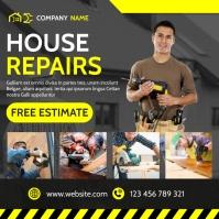 handyman house repairs services instagram pos Instagram-Beitrag template