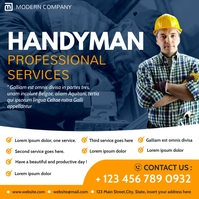 handyman professional services instagram post template