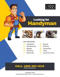 Handyman Service Flyer Poster Iflaya (Incwadi ye-US) template