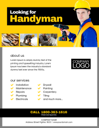 Handyman Service Flyer Poster Template