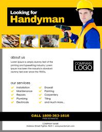 Handyman Service Flyer Poster Template Volante (Carta US)