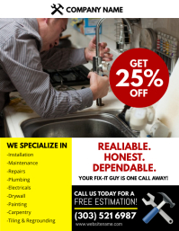 Handyman Service Flyer Plumbing