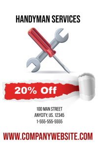 Handyman Service Sale Event Template