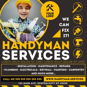 HANDYMAN SERVICES BANNER Instagram Post template