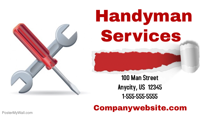 Handyman services business card template postermywall handyman services business card template colourmoves