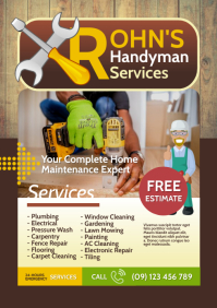 Handyman Services Flyer A4 template