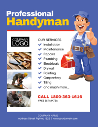 Handyman Services Flyer Poster Template