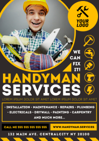 HANDYMAN SERVICES POSTER A4 template