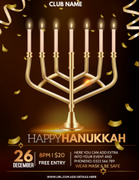Hanukkah, Hanukah celebrations Volantino (US Letter) template