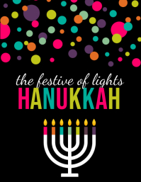 hanukkah, shabbat, hanukah, chanukah, kwanzaa Flyer (US Letter) template