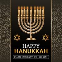 hanukkah, shabbat, hanukah, chanukha, kwanzaa Instagram Post template