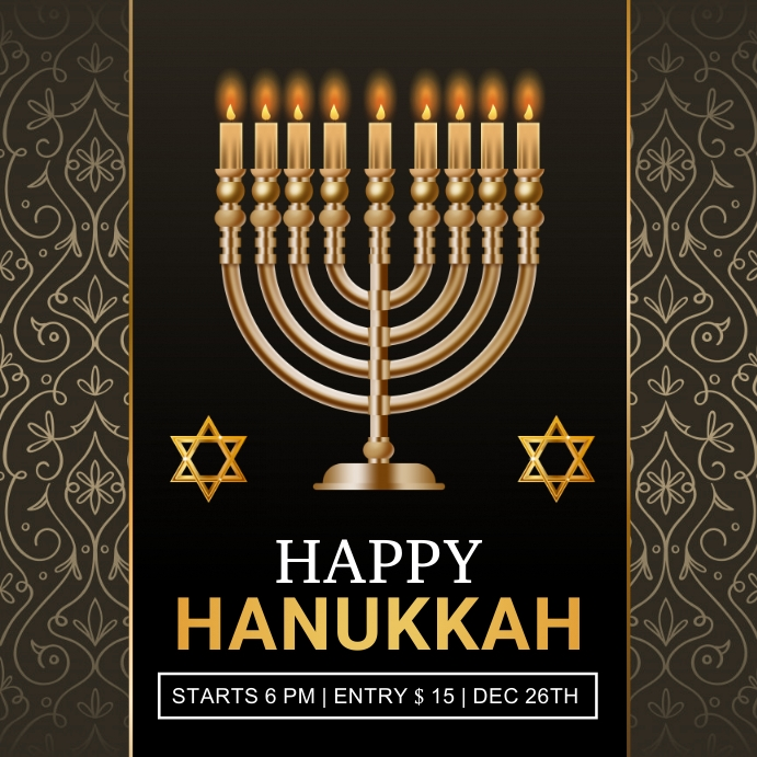 hanukkah, shabbat, hanukah, chanukha, kwanzaa Instagram-opslag template