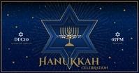 HANUKKAH BANNER Facebook Shared Image template