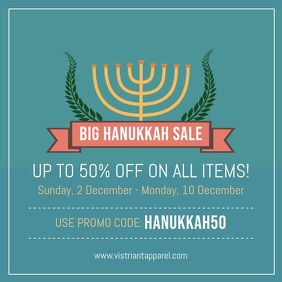 Hanukkah Big Sale Square Ad