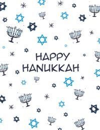 Hanukkah Card Flyer - Colour