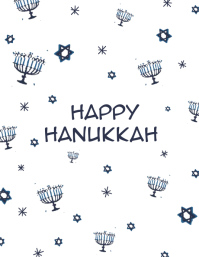 Hanukkah Card Flyer